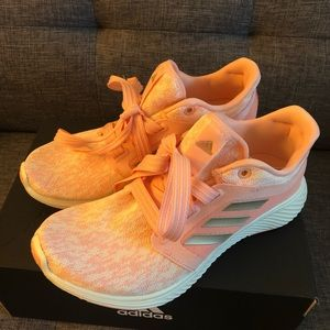 Adidas Edge Lux 3 Pink Copper Cloud Sneakers NIB